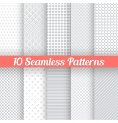 Light grey seamless patterns for universal vector image vector image