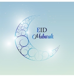 Moon Background for Muslim Community Festival vector image