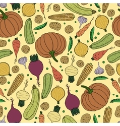 Seamless pattern with vegetables vector image
