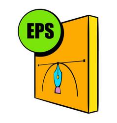 eps file icon cartoon vector image vector image