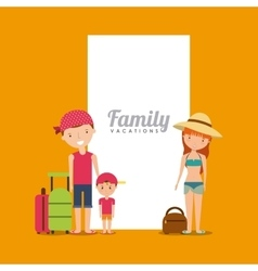 family on summer vacation design vector image vector image