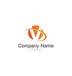 round letter v company logo vector image