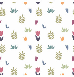 stylized floral elements for design on a vector image vector image