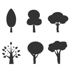 tree icon on white background tree silhouette vector image