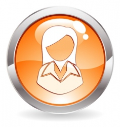 button with woman vector image