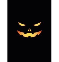Scary face of halloween pumpkin vector image vector image