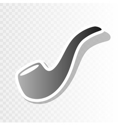 smoke pipe sign new year blackish icon on vector image vector image