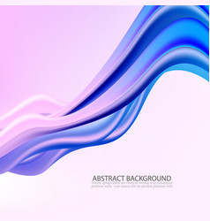3d abstract background colorful wave shapes vector image