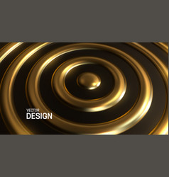 abstract background with golden concentric rings vector image