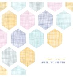 Abstract colorful honeycomb fabric textured frame vector