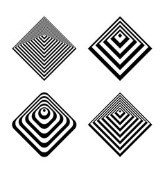 Abstract geometric icons vector