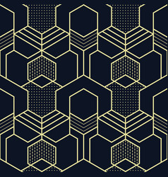 abstract geometric shapes seamless cubes pattern vector image