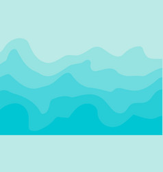 abstract wave shapes with different tonality vector image