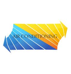 Air conditioner symbol arrows vector
