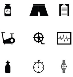 bicycle icon set vector image