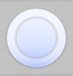 Blue plate on transparent background vector