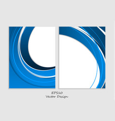 Brochures templates set vector