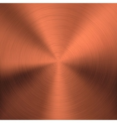 Bronze Metal Background with Circular Texture vector