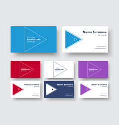business card template in a minimalist style with vector image