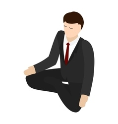 Businessman meditation icon isometric 3d style vector image