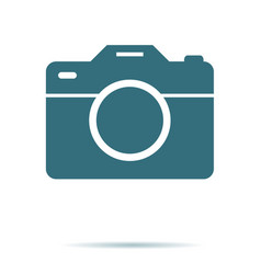 camera icon flat photo isolated modern si vector image