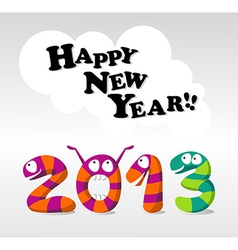 Cartoon Happy New Year 2013 vector image