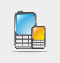 cellular phones vector image