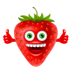 cheerful strawberry vector image