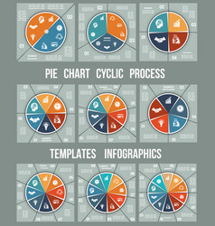 colorful pie chart for cyclic process templates vector image