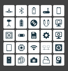 Computer icons set collection of settings wireless vector