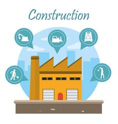 Construction zone concept vector