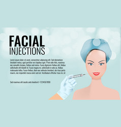cosmetic facial injections ad layout template 3d vector image