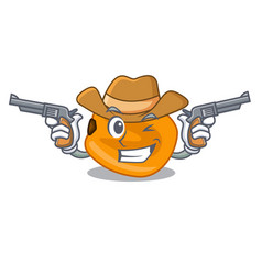 Cowboy corn nuts in the character bowl vector