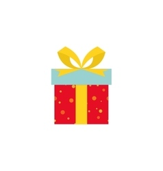 Cute present object vector image