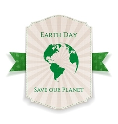 Earth Day big realistic Holiday Banner Template vector