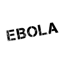 Ebola rubber stamp vector image