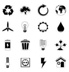 Ecology and energy icon vector
