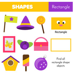 Educational children game learning geometric vector