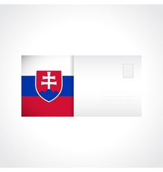 Envelope with Slovak flag card vector image