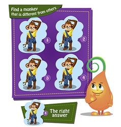 find a monkey boy vector image