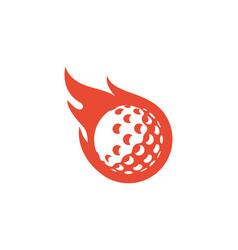 Fire golf logo icon design vector