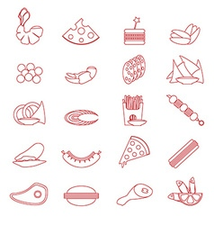 Food Snacks Silhouette vector