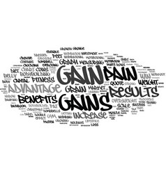 Gains word cloud concept vector