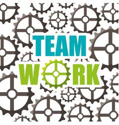 Gears teamwork concept icon vector