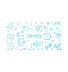 goals colored outline vector image