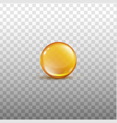 Golden oil drip in round sphere shape - isolated vector