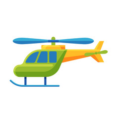Helicopter batoy cute colorful plastic vector