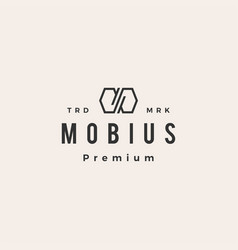 Infinity mobius hipster vintage logo icon vector