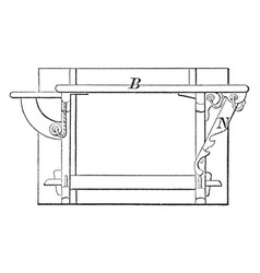 Ironing table well known brands vintage engraving vector