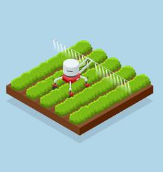 Isometric irrigational smart robotic system vector